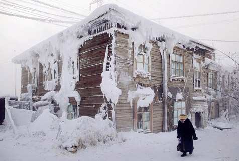 世界极寒之地:年平均气温零下50℃