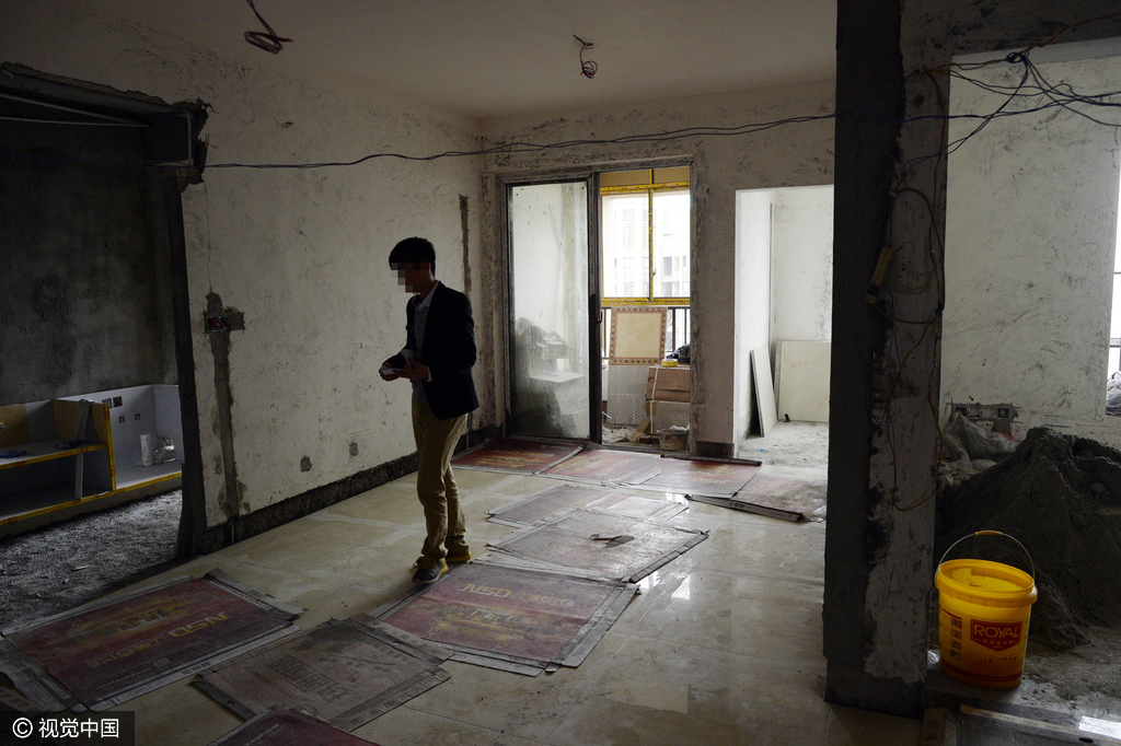 小伙装修半月花掉15万元 物管告知装错房子