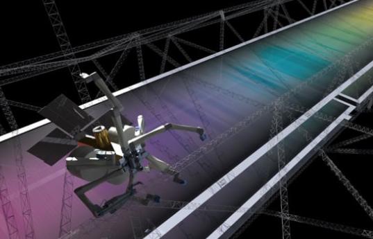 """蜘蛛机器人太空""""吐丝""""织网 3D打印飞船零件"""