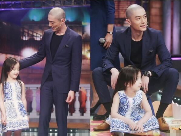 预习当爸!霍建华给小女孩儿梳头 动作那叫一个熟练