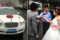 上海一婚车涉嫌套牌被拦 新娘新郎打车走