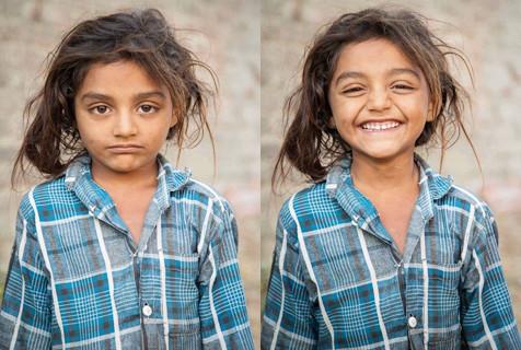 摄影师记录从冷漠到微笑瞬间