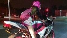 脑抽!逆天的摩托女司机