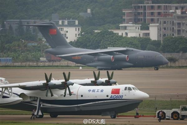 国之重器!中国两款大飞机珠海航展首次霸气同框