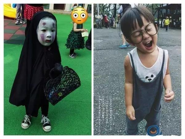 """被萌化!台湾""""无脸男""""小萝莉卸妆后"""