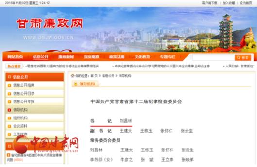 人事任免|江西省副省长刘昌林调任甘肃省纪委书记
