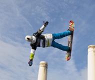 冲向天际飞跃极限 单板滑雪世界杯伦敦站精彩瞬间