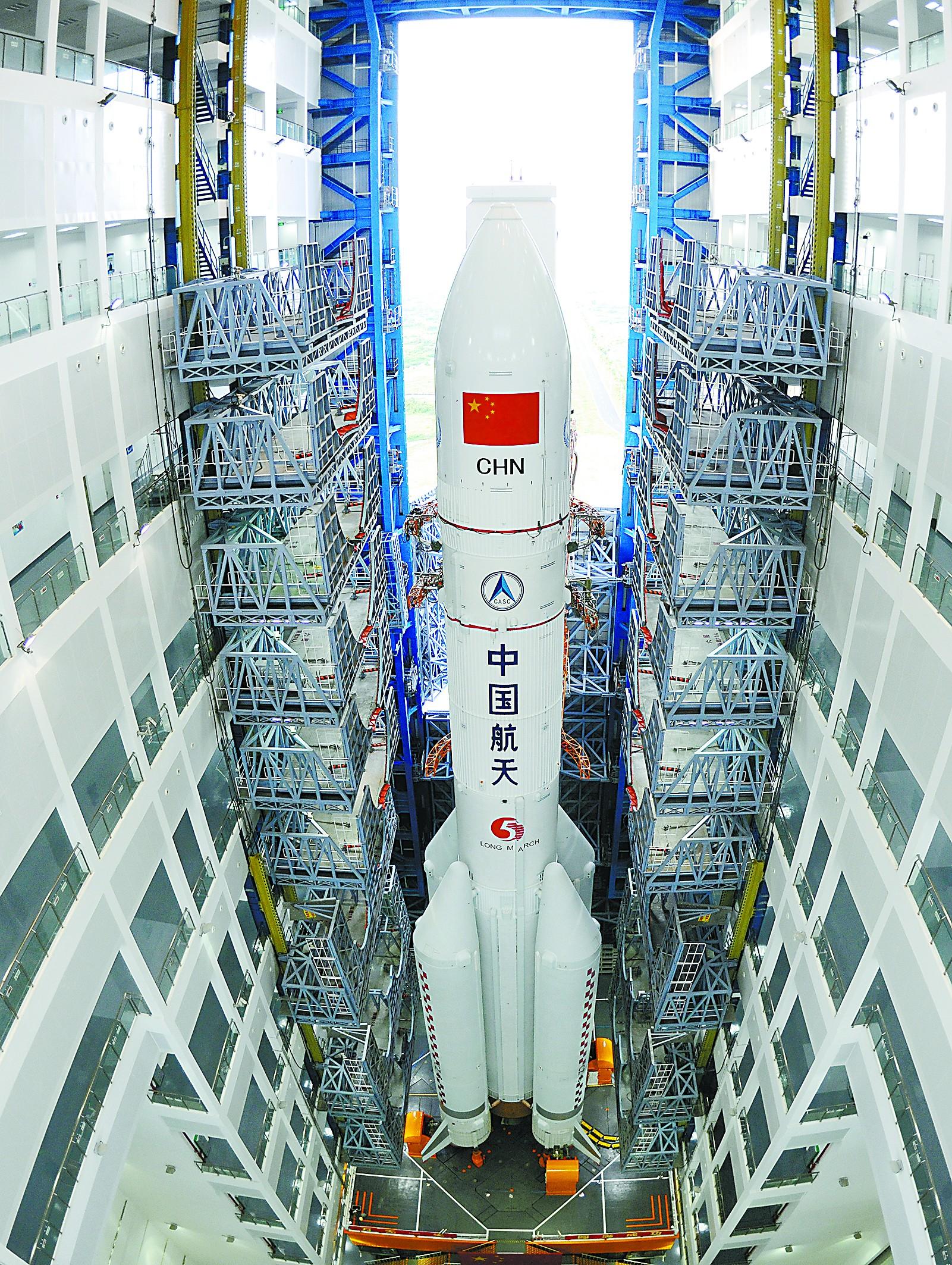 """长征五号创多项""""中国之最"""" 新技术比几乎100%"""