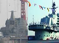中国自研航母舰岛和辽宁舰区别