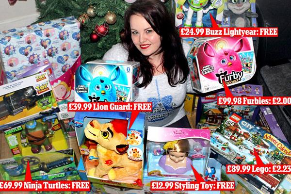 英女子仅花84元为家人准备万元圣诞礼物