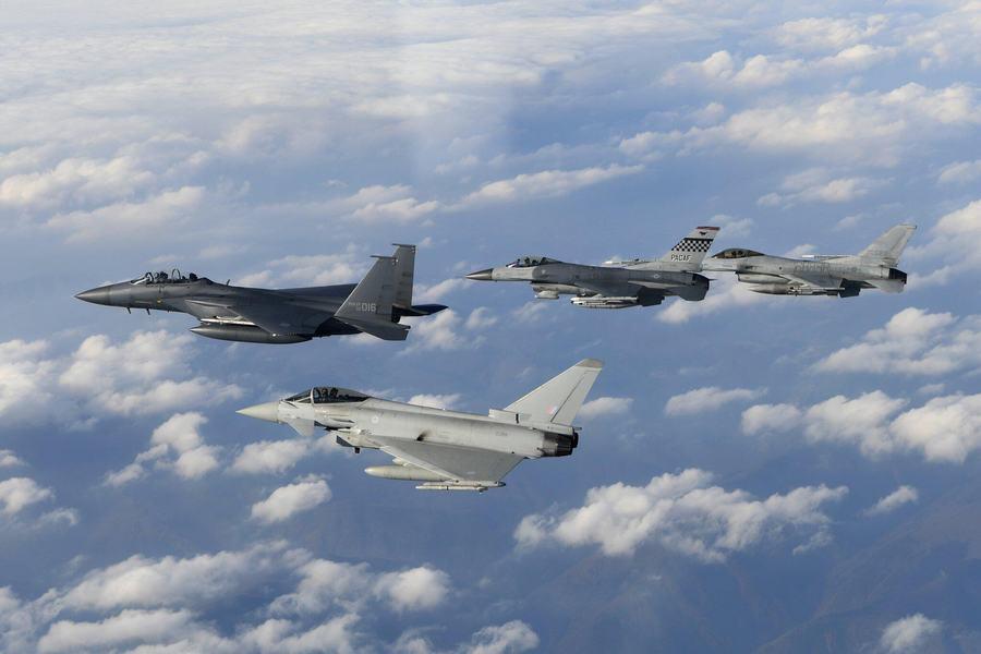 英台风战机首次出现在朝鲜半岛