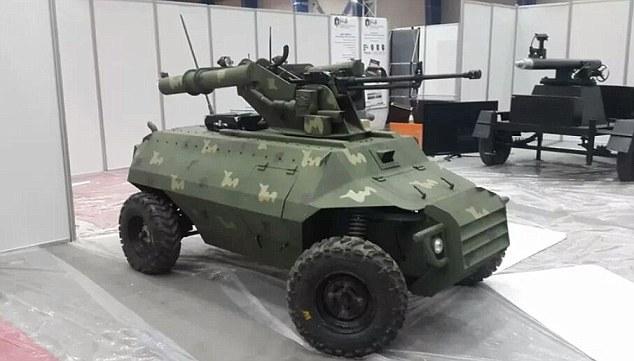 伊拉克打击IS出新招 启用新型坦克机器人