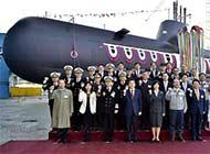 韩第八艘214型潜艇下水