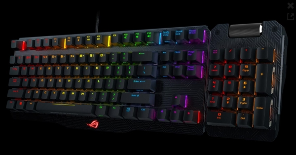 炫酷!华硕ROG发布世界首款变形机械键盘