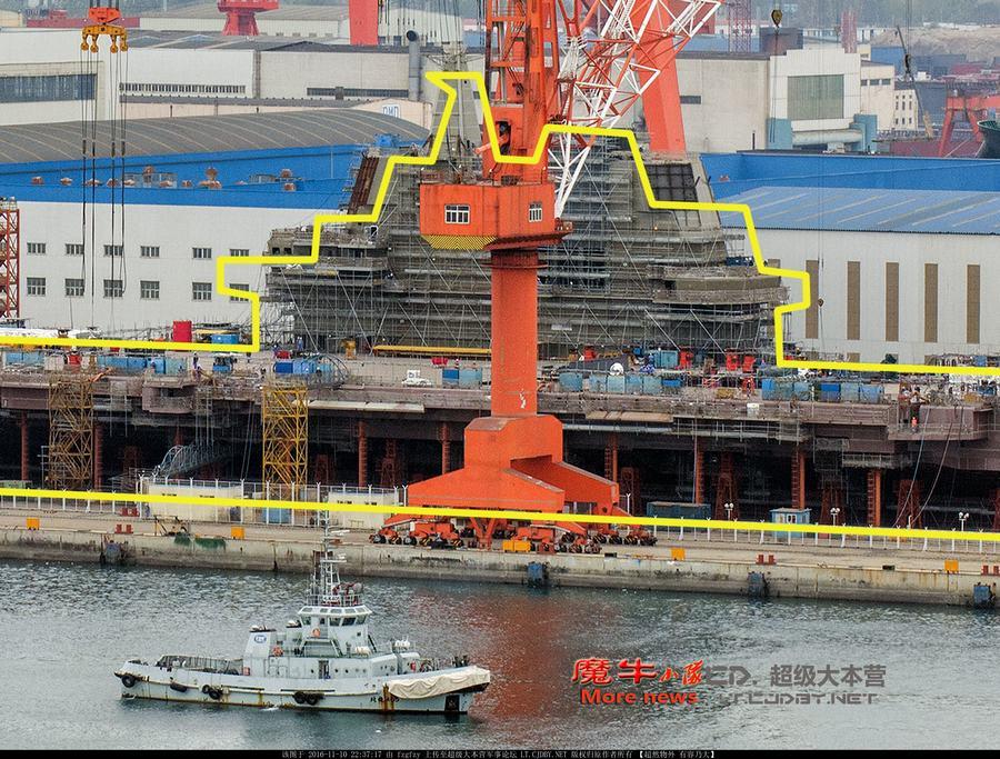 001A国产航母建造最新进展曝光