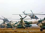 陆航直升机群新疆起飞遮天蔽日