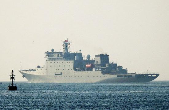 又一艘国产大型神秘战舰出海