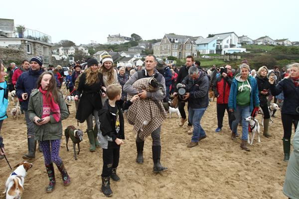暖心!数百人陪接受安乐死的高龄狗狗最后一次散步