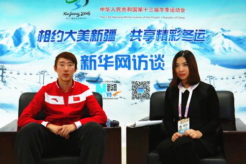 访全冬会青年男子5000米速度滑冰冠军吴宇