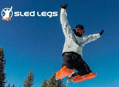 穿上雪橇腿体验滑雪新玩法