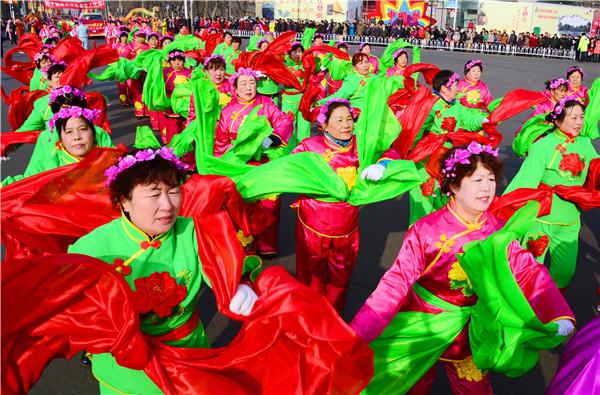 石河子北泉镇传统文化之社火表演
