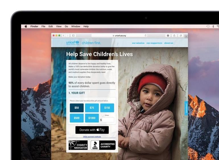 Apple Pay支持非盈利组织捐款 用户一键即可行善