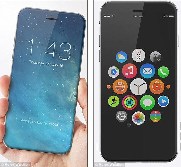 曝iPhone8或采用无边框弧面大屏