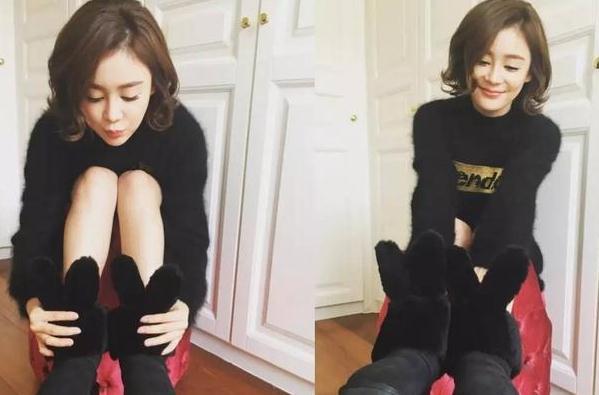 袁姗姗穿新款雪地靴卖萌,原来今年的雪地靴都要时髦到你不敢嫌弃!