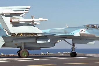 俄军唯一航母参与叙利亚作战