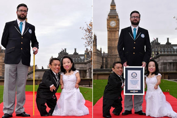 爱情自有天意!世界最矮情侣伦敦大婚幸福美满