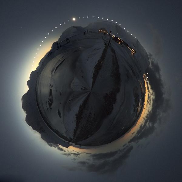 摄影师挪威拍摄制作360度日全食绝美全景