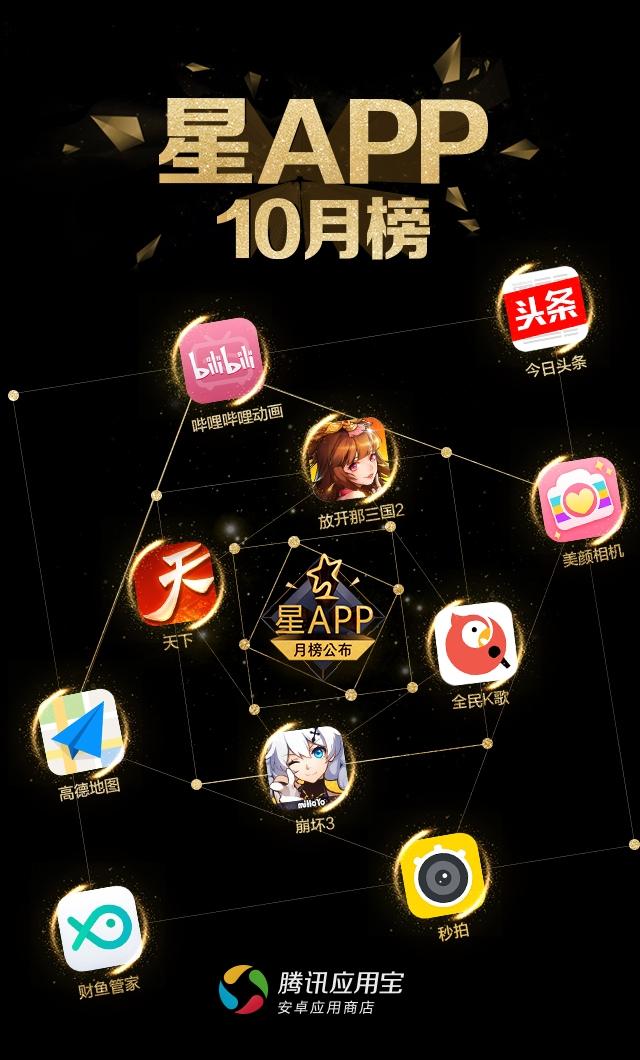 """应用宝""""星APP""""10月榜出炉 中国元素风靡手游市场"""