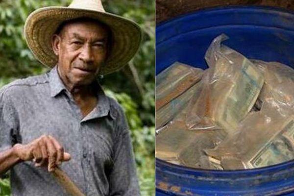65岁老人挖水渠挖出10大桶现金 足足有6亿美金