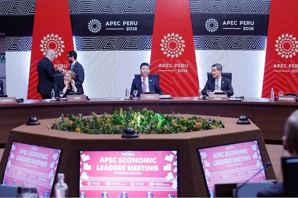 习近平出席APEC第二十四次非正式会议并发表讲话