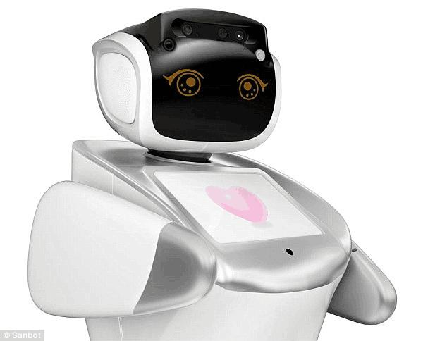中国制造机场机器人Sanbot 通晓28种语言+识别罪犯