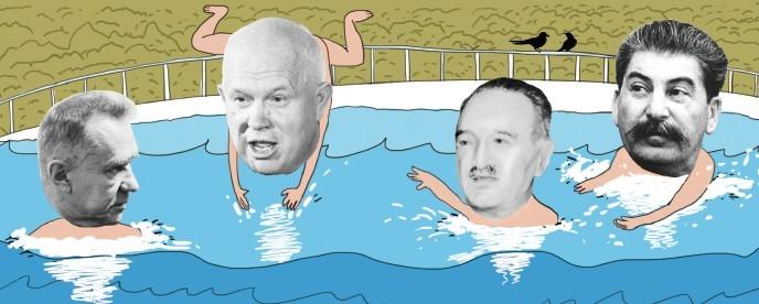"""苏联领导人""""玩水""""囧事多:斯大林险遭枪击"""
