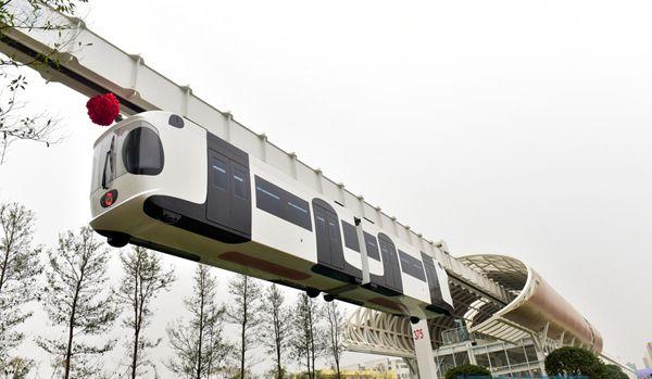 世界首条新能源空铁成都试跑
