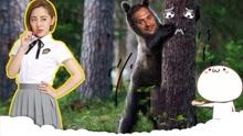 树震!男子赤身裸体与大树啪啪啪!