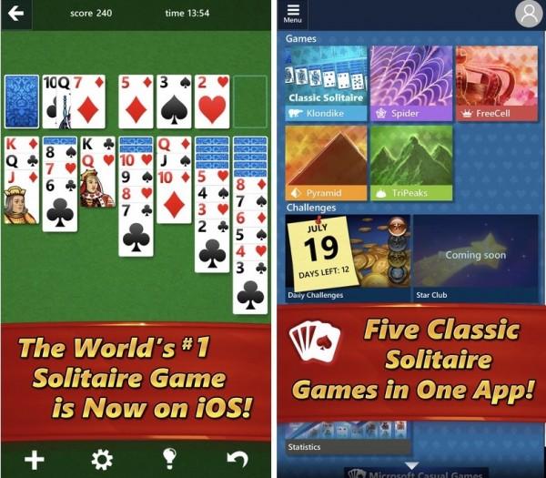 情怀来了!微软纸牌游戏登录iOS/Android平台