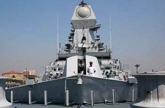 印度国产神盾舰武器测试画面