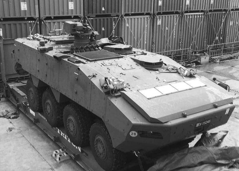 新星光部队装甲车遭香港扣查 涉及新台军事合作