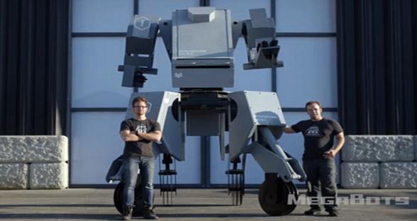 美机器人公司测试新款巨型机器人武器