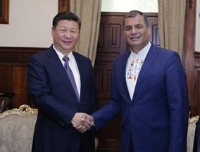 习近习近平与厄瓜多尔总统科雷亚举行会谈