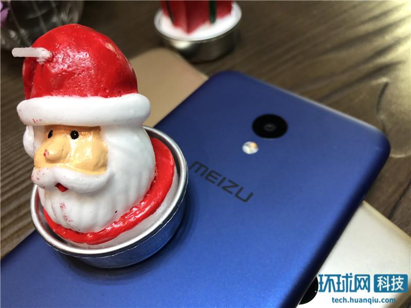 魅蓝5宝石蓝版本图赏 圣诞套装送耳机