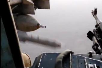 米24直升机原来是这样投炸弹的