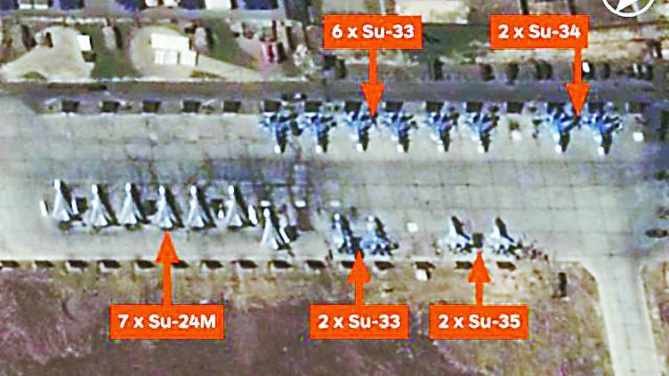 英媒暗示俄航母打击IS作秀:舰载机都在军事基地