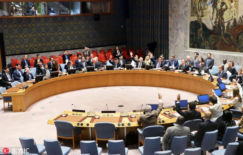 安理会通过对朝鲜更严厉制裁 中国投赞成票