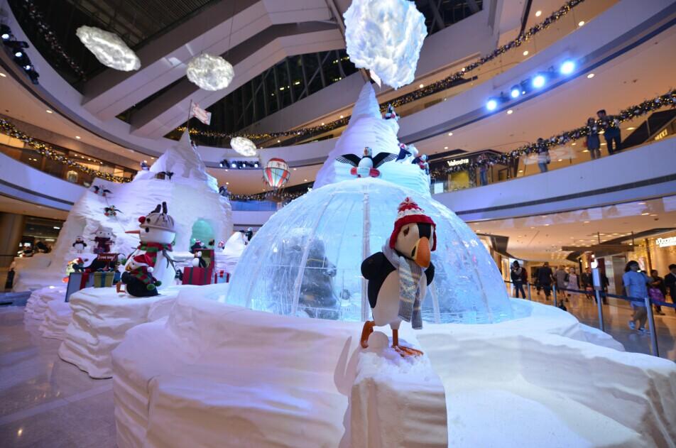 香港ifc商场今年圣诞精心打造「The Polar Resort」
