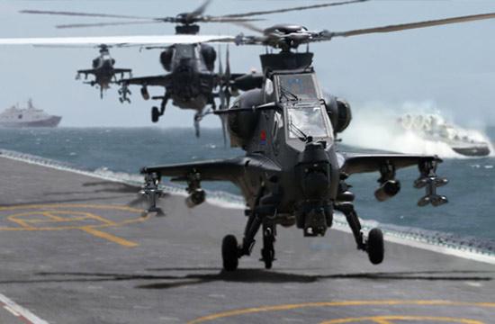 直10武装直升机上舰会是这样?