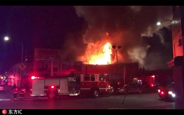 美国奥克兰一仓库大火已致9人死亡 数十人失踪